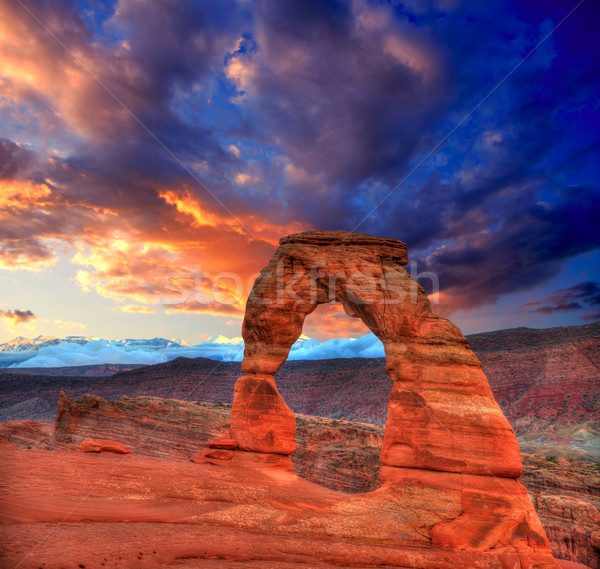 Arches National Park Delicate Arch in Utah USA Stock photo © lunamarina