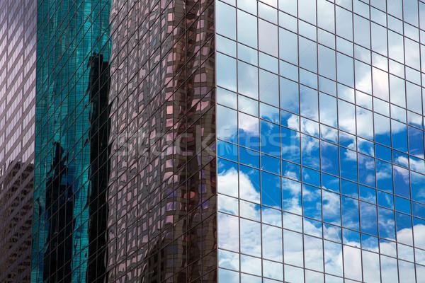 Houston Texas urban city with modern mirror skyscapers Stock photo © lunamarina