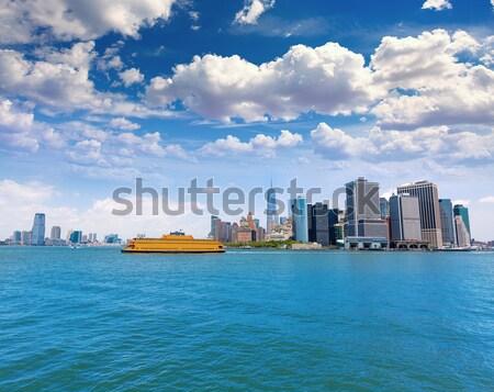 Manhattan New York Skyline ny USA bureau Photo stock © lunamarina