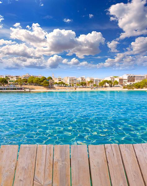 Strand majorca eiland dek foto hemel Stockfoto © lunamarina