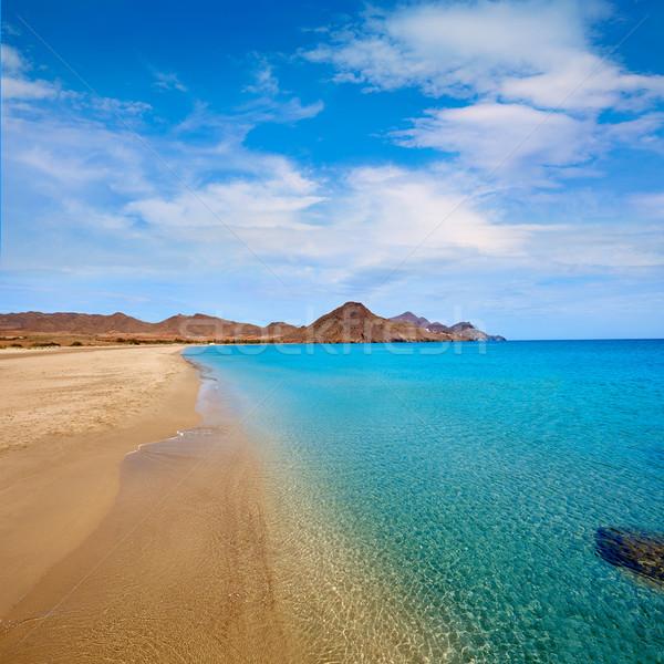 Almeria Playa los Genoveses beach Cabo de Gata Stock photo © lunamarina
