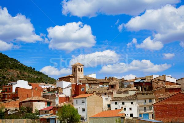 Villar del Humo in Cuenca Spain village skyline Stock photo © lunamarina