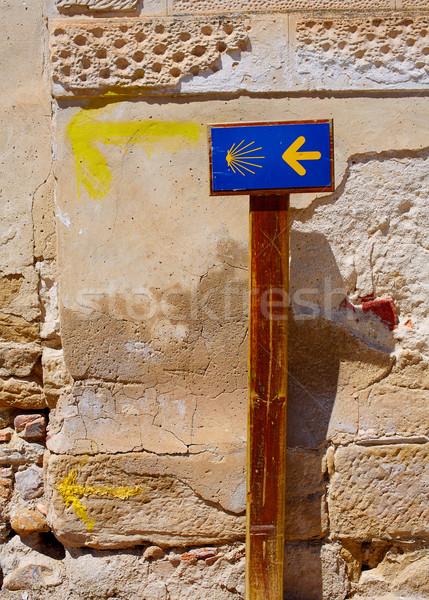 The way of Saint James sign at Granon in La Rioja Stock photo © lunamarina