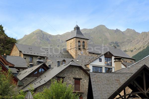 Sallent de Gallego Pyrenees stone village Huesca Stock photo © lunamarina