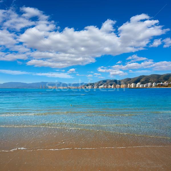 Tengerpart Valencia Spanyolország mediterrán égbolt tájkép Stock fotó © lunamarina