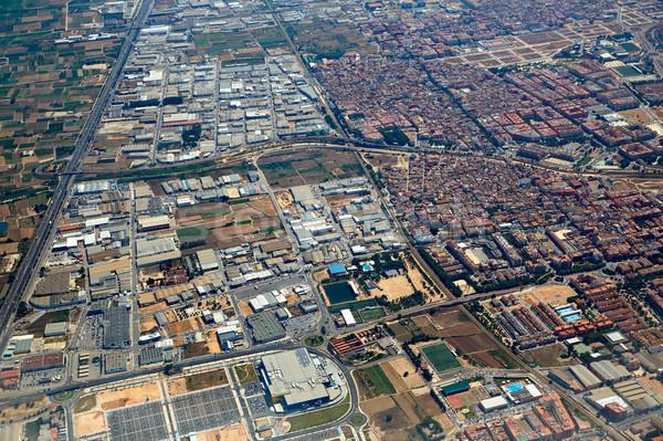 антенна фото Валенсия плоскости Европа красивой Сток-фото © lunamarina