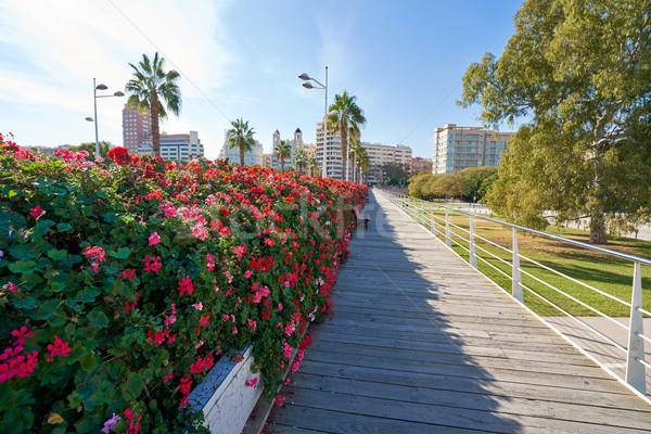 Valencia Puente de las Flores flowers bridge Stock photo © lunamarina