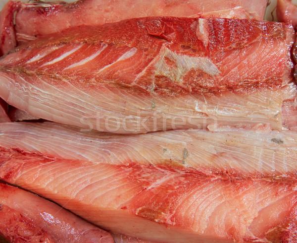 Poissons filet macro texture mer table Photo stock © lunamarina