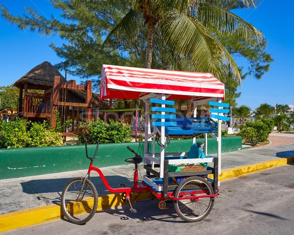 Карибы трехколесный велосипед магазин велосипед Мексика дороги Сток-фото © lunamarina
