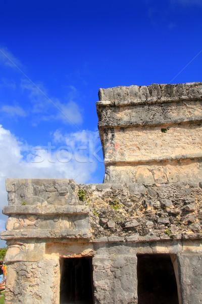 Ancient Tulum Mayan ruins Mexico Quintana Roo Stock photo © lunamarina