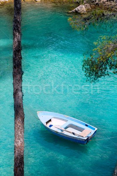 Türkiz mediterrán szigetek Spanyolország óceán kék Stock fotó © lunamarina