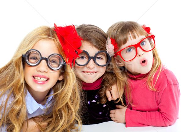Nerd Ninos Nina Grupo Funny Gafas