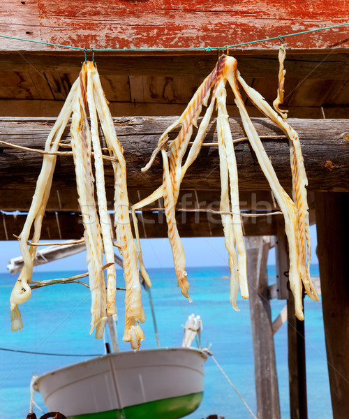 dried fish peix sec typical food in Mediterranean Stock photo © lunamarina