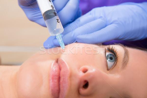 Veroudering spuit vrouw gezicht vrouw gezicht Stockfoto © lunamarina