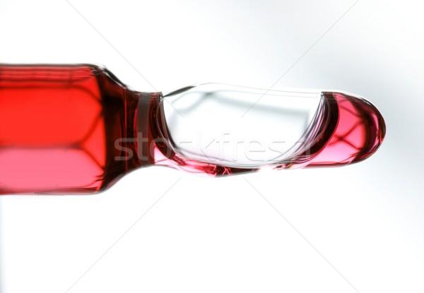 Glass ampoule with red liquid medicine Stock photo © lunamarina