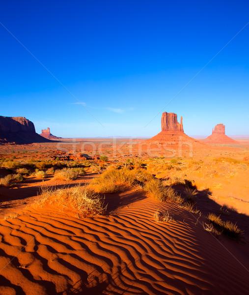 долины Запад варежки Юта пустыне песок Сток-фото © lunamarina