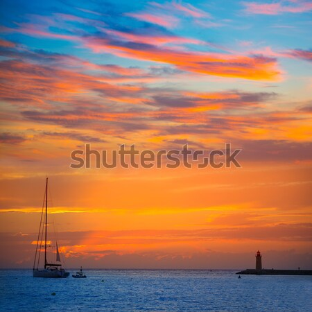 Ibiza san Antonio Abad de Portmany sunset Stock photo © lunamarina