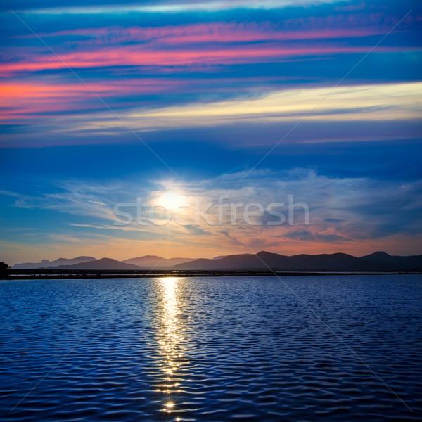 Gün batımı İspanya bulutlar güneş doğa Stok fotoğraf © lunamarina