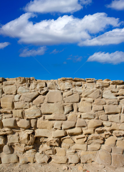 Tabarca Island battlement fort masonry wall detail Stock photo © lunamarina
