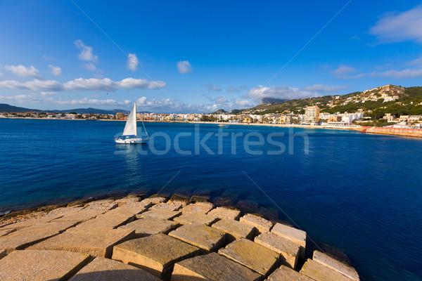 Javea Xabia skyline in Alicante Mediterranean Spain Stock photo © lunamarina