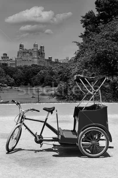 Central Park Manhattan lac vélo ny New York Photo stock © lunamarina