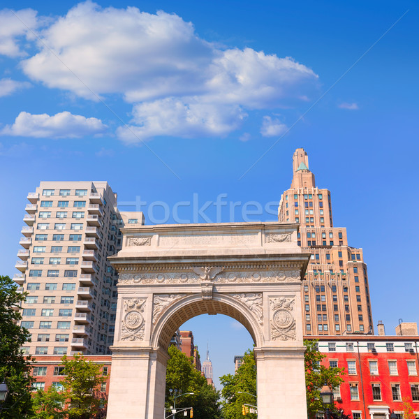 Manhattan Washington tér park ív New York Stock fotó © lunamarina