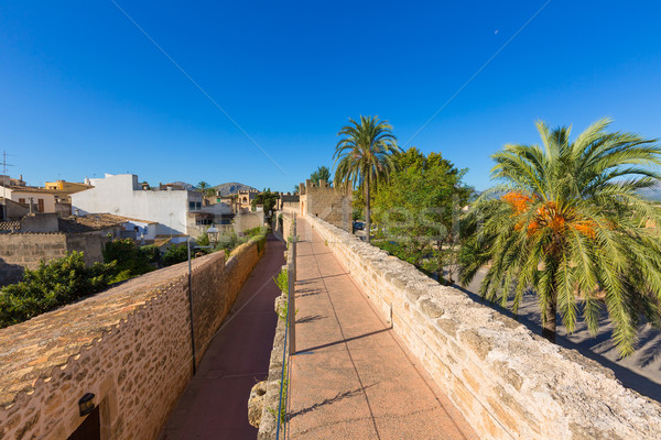 Alcudia Old Town fortress wall in Majorca Mallorca Stock photo © lunamarina
