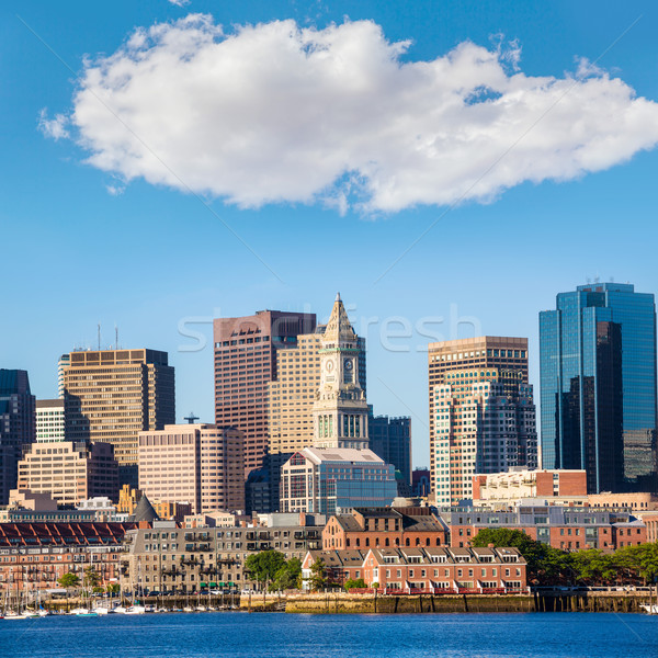 Boston skyline fiume luce del sole Massachusetts USA Foto d'archivio © lunamarina