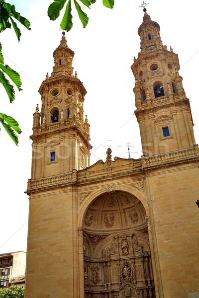 Logrono Cathedral of Santa Maria la Redonda Stock photo © lunamarina