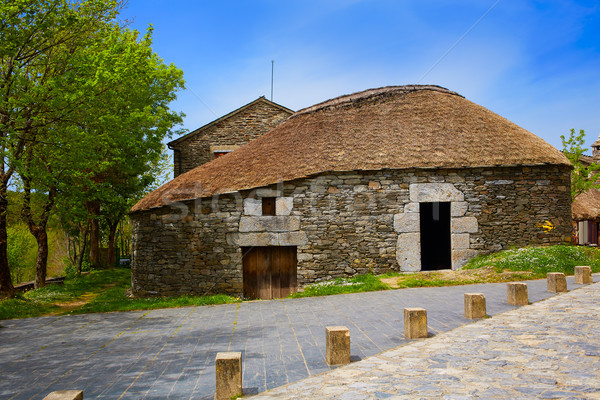 Manier galicië traditioneel celtic hut Stockfoto © lunamarina