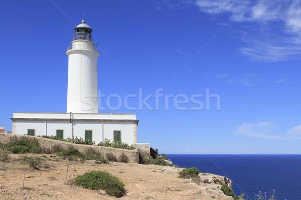 Formentera La Mota lighthouse balearic islands Stock photo © lunamarina