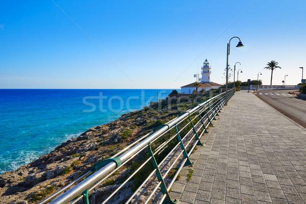 Cullera Lighthouse in Valencia of Spain Stock photo © lunamarina