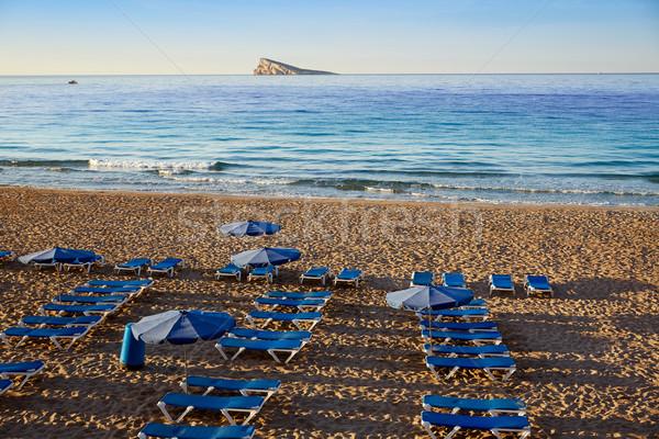 Praia Espanha mediterrânico cidade paisagem mar Foto stock © lunamarina