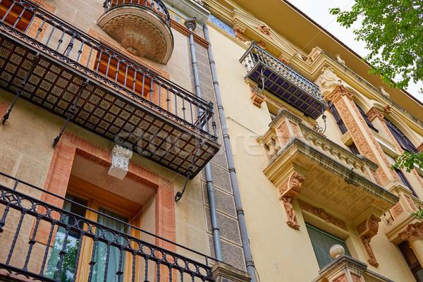 İspanya Bina şehir sokak sanat antika Stok fotoğraf © lunamarina