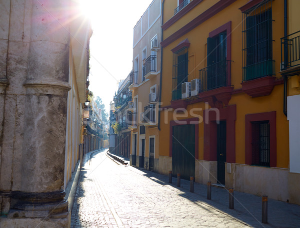 Seville la Macarena barrio street in Sevilla Stock photo © lunamarina