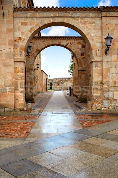 大聖堂 広場 スペイン ラ 方法 建物 ストックフォト © lunamarina