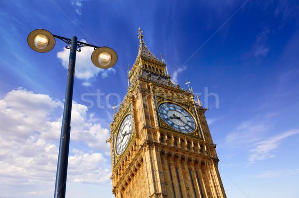 Big Ben Clock Tower in London England Stock photo © lunamarina