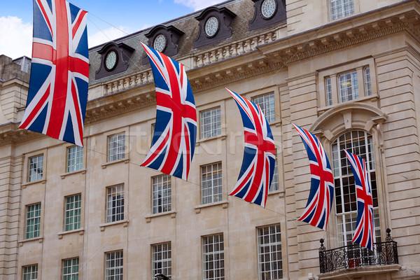 London UK flags in Piccadilly Circus Stock photo © lunamarina