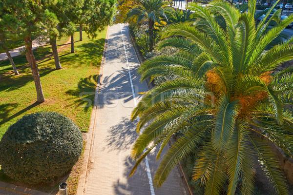 Valencia park kertek kilátás Spanyolország légifelvétel Stock fotó © lunamarina