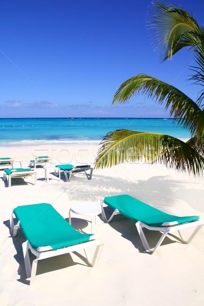 Foto stock: Caribbean · praia · turquesa · mar · verde · água