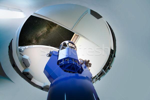 Astronomiczny teleskop noc nieba niebo Zdjęcia stock © lunamarina