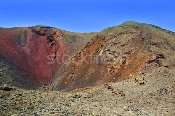 вулкан кратер Канарские острова небе пейзаж горные Сток-фото © lunamarina