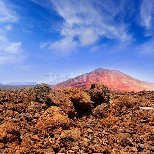 Montana piros hegy vulkáni láva kő Stock fotó © lunamarina