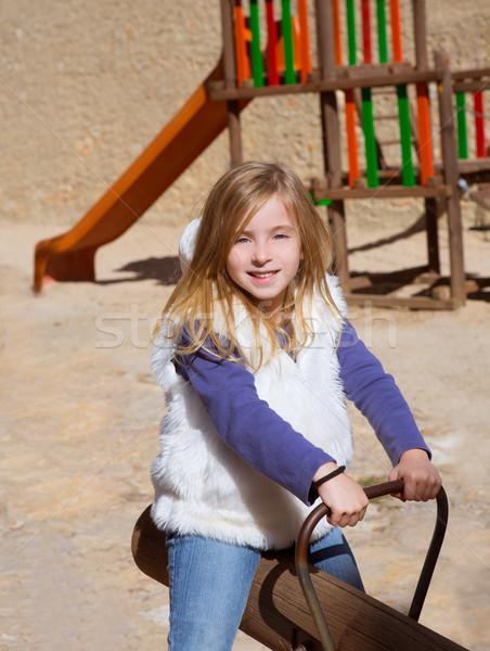 ребенка девушки играет площадка улыбаясь Сток-фото © lunamarina