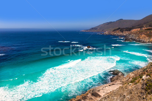 Photo stock: Californie · plage · grand · route · pont · printemps