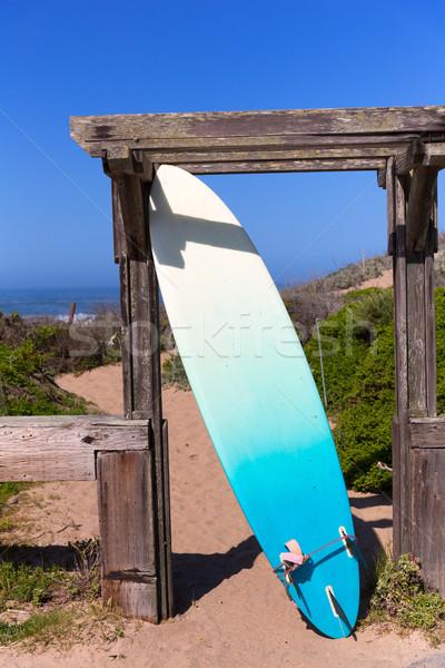 California deska surfingowa plaży autostrady trasy wiosną Zdjęcia stock © lunamarina