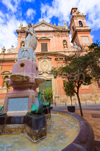 Valencia Santo Tomas church in plaza san Vicente Ferrer Spain Stock photo © lunamarina