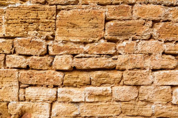 Vieille ville maçonnerie mur texture majorque île Photo stock © lunamarina