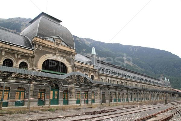 Canfranc train station old monument Spain Stock photo © lunamarina