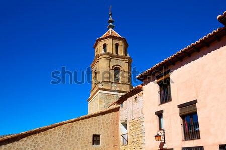 Terriente village in Sierra de Albarracin Teruel Stock photo © lunamarina